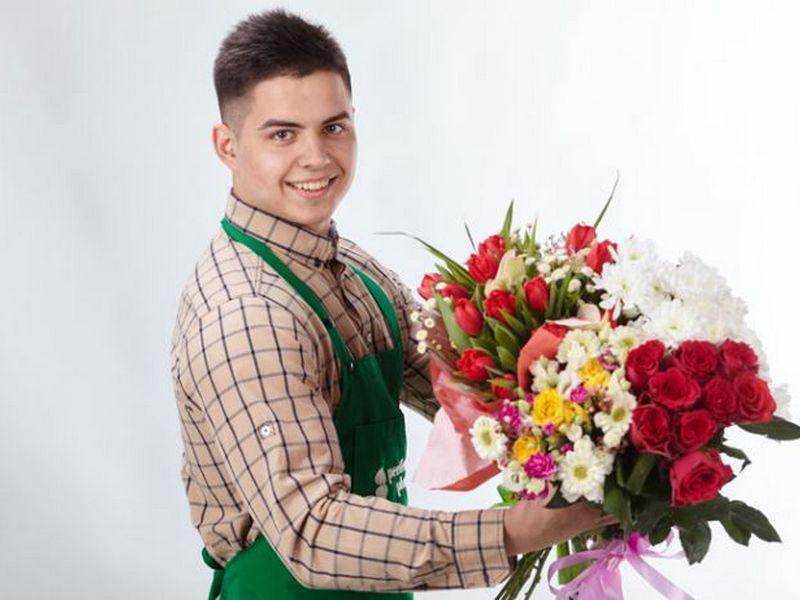 Картинка доставка цветов, открытка